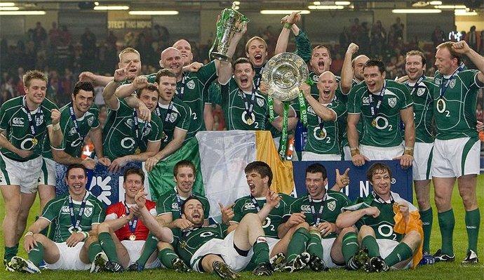 УДАР НА СТРАНЦЕ ЗА ЈАЧУ ИРСКУ: Освајачи Купа 6 нација Грен слемом 2009. године.