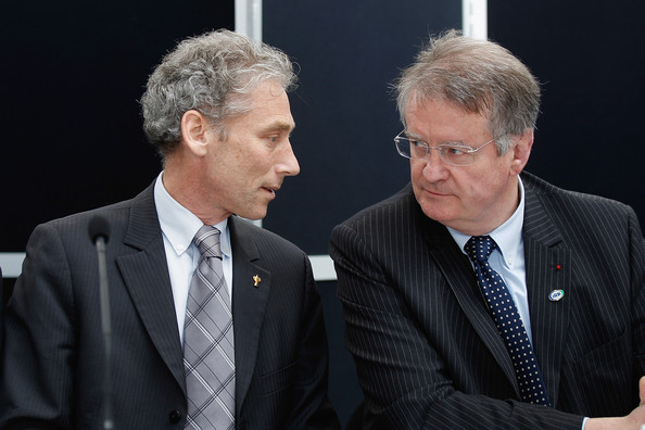 КРАЈ САРАДЊЕ: Мајк Милер (лево) и Бернар Лапасет.