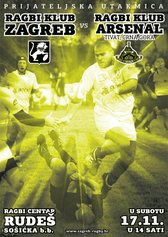 ЗА АРХИВУ: плакат најаве меча Загреб - Арсенал.