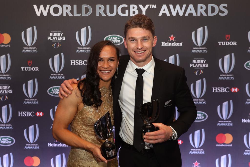 НАЈБОЉИ НА СВЕТУ: Порита Вудман и Бауден Барет. ФОТО: World Rugby/Getty Images
